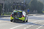 Kevyn Ista (BEL) WB Veranclassic Aquality Protect gets a tow with 12k to go during the 60th edition of the Record Bank E3 Harelbeke 2017, Flanders, Belgium. 24th March 2017.<br /> Picture: Eoin Clarke | Cyclefile<br /> <br /> <br /> All photos usage must carry mandatory copyright credit (&copy; Cyclefile | Eoin Clarke)