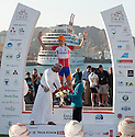 Picture shows ;Mr. Rashad Al Zubair, the Chairman of The Zubair Corporation and Stage Six winner Mark Cavendish..Robert Gesink from the Rabobank Procycling team wins The Tour of Oman .Part of a Six-stage race .20th February 2011..© Lloyd Images..