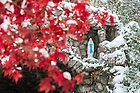 Nov. 14, 2014; Grotto after a snowfall. (Photo by Matt Cashore/University of Notre Dame)
