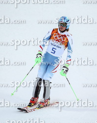 14.02.2014, Rosa Khutor Alpine Center, Krasnaya Polyana, RUS, Sochi, 2014, Super- Kombination, Herren, Slalom, im Bild Max Franz (AUT) // Max Franz of Austria during the Slalom of the mens Super Combined of the Olympic Winter Games 'Sochi 2014' at the Rosa Khutor Alpine Center, Krasnaya Polyana, Russia on 2014/02/14. EXPA Pictures &copy; 2014, PhotoCredit: EXPA/ Minkoff<br /> <br /> *****ATTENTION - OUT of GER*****