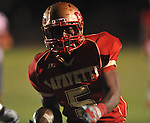Lafayette High's Demarkous Dennis (5) scores on a 24 yard touchdown run in the second quarter vs. Lewisburg in Homecoming football action in Oxford, Miss. on Friday, September 30, 2011. Lafayette High won 42-0 for the team's 23rd straight win.