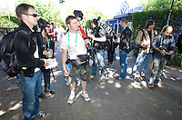 Photographers get ready to cover the USA <br /> training in Hamburg, Germany, for the 2006 World Cup, June, 8, 2006.