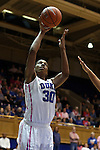 04 February 2016: Duke's Amber Henson. The Duke University Blue Devils hosted the University of Virginia Cavaliers at Cameron Indoor Stadium in Durham, North Carolina in a 2015-16 NCAA Division I Women's Basketball game. Both teams wore pink as part of the annual Play4Kay game in support of the Kay Yow Cancer Fund. Duke won the game 67-52.
