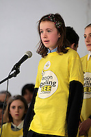 NO FEE PICTURES.8/3/12 Aoife Healy, St Olaf's NS, Dundrum, taking part in the Dublin County final, part of the overall Eason 2012 Spelling Bee, held at St Olaf's NS, Dundrum. .For further details visit www.easons.com/spellingbee and stay tuned to RTE 2fm. Picture:Arthur Carron/Collins