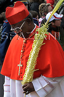 Cardinal Arinze Francis;Pope Benedict XVI benedicts faithful during an open-air Palm Sunday mass in St. Peter's square at the Vatican Sunday, March 16, 2008.