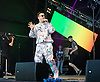 Frankmusik performs live at Brighton Pride in Preston Park, Brighton, East Sussex, Great Britain <br />