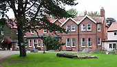 Looking back towards the main building, Summerhill School, Leiston, Suffolk. The school was founded by A.S.Neill in 1921 and is run on democratic lines with each person, adult or child, having an equal say.  You don't have to go to lessons if you don't want to but could play all day.  It gets above average GCSE exam results.