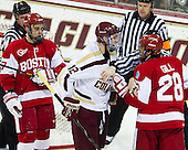 Chris Millea, Evan Rodrigues (BU - 17), Kevin Hayes (BC - 12), Jack Millea, Sahir Gill (BU - 28) - The Boston College Eagles defeated the visiting Boston University Terriers 5-2 on Saturday, December 1, 2012, at Kelley Rink in Conte Forum in Chestnut Hill, Massachusetts.