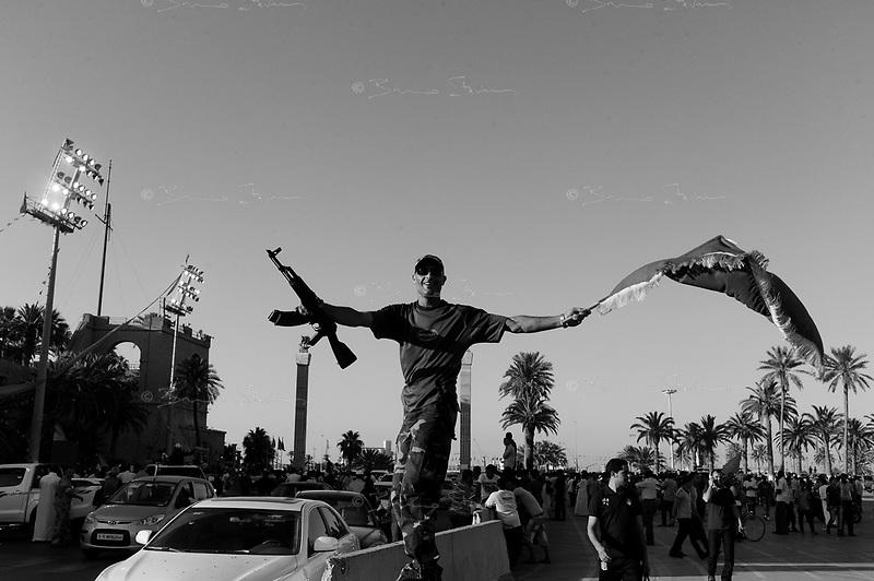 Tripoli, Libya, June 24, 2011..After 4 months of civil war, Libya's economy is working at a fraction of normality, while the regime's propaganda is omnipresent..