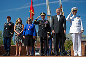 United States Army 1st Lt. Stephen Petraeus, Anne Petraeus, Holly Petraeus, U.S. Army Gen.  David H. Petraeus, Deputy Secretary of Defense, William J. Lynn, III and Chairman of the Joint Chiefs of Staff, Adm. Mike Mullen observe the marching of the Joint Service Color Guard at the retirement ceremony and Armed Forces Farewell for Petreaus, Joint Base Meyer-Henderson Hall, Va., August 31, 2011. Petraeus is retiring after a 37-year career to become the director of the Central Intelligence Agency.  On Friday, November 9, 2012, David H. Petraeus, the director of the Central Intelligence Agency, resigned on  after issuing a statement saying that he had engaged in an extramarital affair..Credit: Chad J. McNeeley / DoD via CNP
