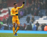 Preston North End's Callum Robinson applauds the fans at the final whistle<br /> <br /> Photographer Stephen White/CameraSport<br /> <br /> The EFL Sky Bet Championship - Blackburn Rovers v Preston North End - Saturday 18th March 2017 - Ewood Park - Blackburn<br /> <br /> World Copyright &copy; 2017 CameraSport. All rights reserved. 43 Linden Ave. Countesthorpe. Leicester. England. LE8 5PG - Tel: +44 (0) 116 277 4147 - admin@camerasport.com - www.camerasport.com