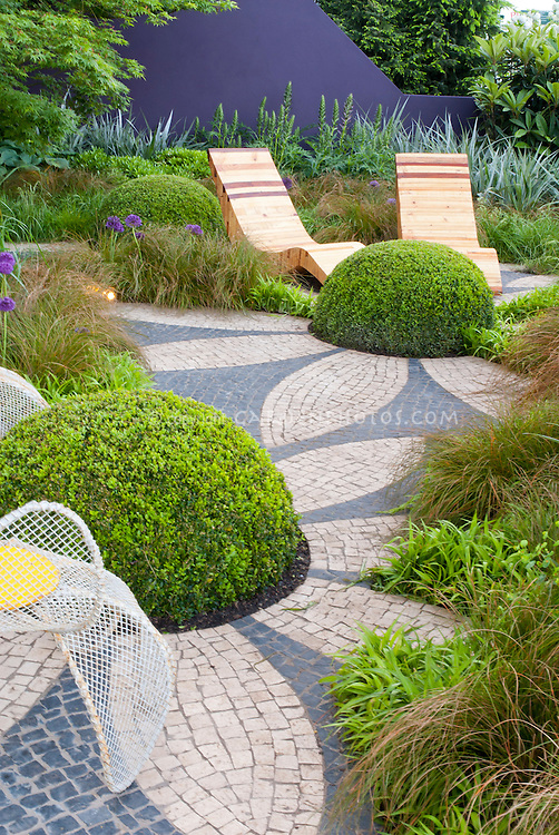 Textures and shapes in the garden landscape plant - Garden border shape ideas ...