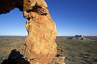 Window Rock.Chambers Pillar Historic Reserve.Northern Territory.Australia