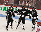 Erik Foley (PC - 12), Scott Conway (PC - 10) Josh Monk (PC - 27) - The Boston University Terriers tied the visiting Providence College Friars 2-2 on Saturday, December 3, 2016, at Agganis Arena in Boston, Massachusetts.