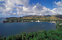 Guam, Micronesia: Umatac Bay and village on the southwest coast of the island.