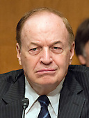 United States Senator Richard Shelby (Republican of Alabama) during the US Senate Committee on Banking, Housing, and Urban Affairs confirmation hearing on the nomination of Dr. Benjamin Carson to be Secretary of Housing and Urban Development (HUD) on Capitol Hill in Washington, DC on Thursday, January 12, 2017.<br /> Credit: Ron Sachs / CNP