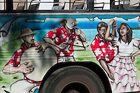 The Solitaire Bus Company has painted buses.