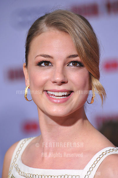 """Emily VanCamp at the Los Angeles premiere of """"Iron Man 3"""" at the El Capitan Theatre, Hollywood..April 24, 2013  Los Angeles, CA.Picture: Paul Smith / Featureflash"""