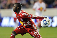 New York Red Bulls goalkeeper Bouna Coundoul (18). The New York Red Bulls defeated FC Dallas 2-1 during a Major League Soccer (MLS) match at Red Bull Arena in Harrison, NJ, on April 17, 2010.