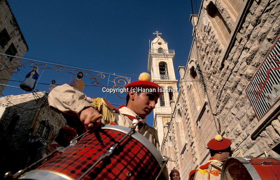 Bethlehem, the Syrian Orthodox Christmas Procession in front of St. Mary Church&amp;#xA;&amp;#xA;<br />