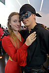 Manhattan, New York City, New York, USA. October 10, 2015. Cosplayers ALANA, from NJ, who is Princess Buttercup, and NICK, from NJ, who is Westley the Dread Pirate Roberts, are portraying characters from W. Goldman's The Princess Bride at the 10th Annual New York Comic Con. NYCC 2015 is expected to be the biggest one ever, with over 160,000 attending during the 4 day ReedPOP event, from October 8 through Oct 11, at Javits Center in Manhattan