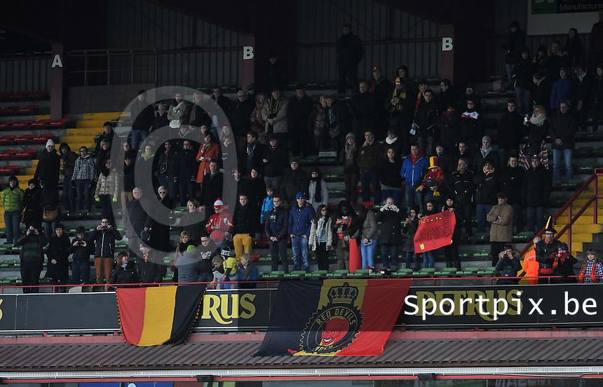 Belgium - The Netherlands : publiek met belgische vlaggen.foto Joke Vuylsteke / Vrouwenteam.be