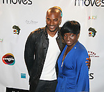 Tyson Beckford and Project Runway Designer Korto Momolu attend The Unveiling of Korto Momolu's 2011 Spring Collection held at Skylight Studios, NY 9/12/10