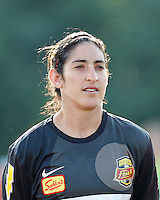 Western New York goalkeeper Allison Lipsher (18). In a Women's Premier Soccer League Elite (WPSL) match, the Boston Breakers defeated Western New York Flash, 3-2, at Dilboy Stadium on May 26, 2012.