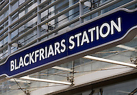 Blackfriars Underground Station Sign - Aug 2013.