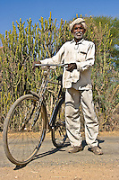 I met this man on a quiet rural road in Rajasthan, India. He was happy to stop and have his photo taken. (Photo by Matt Considine - Images of Asia Collection)