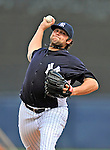 5 March 2011: New York Yankees' pitcher Joba Chamberlain on the mound during a Spring Training game against the Washington Nationals at George M. Steinbrenner Field in Tampa, Florida. The Nationals defeated the Yankees 10-8 in Grapefruit League action. Mandatory Credit: Ed Wolfstein Photo