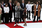 Tina Lundgren Accepts Award at The 2011 Figure Skating in Harlem - Skating with the Stars Honoring Tina and Terry Lundgren, Sarah Hughes and Lola C. West at the Wollman Rink, NY 4/4/11
