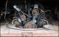 BNPS.co.uk (01202 558833)<br /> Pic: Tennants/BNPS<br /> <br /> Air cooled motor could do with a little attention...<br /> <br /> Jigsaw puzzle - VW camper in hundreds of pieces could be yours for...for &pound;20,000!<br /> <br /> Despite looking ready for the scrapheap, and even though the buyer will have to piece it together like a jigsaw, when fully restored the iconic vehicle could be worth &pound;100,000.<br /> <br /> The barn-find 1960 Type 2 split-screen 23-window Samba has been languishing in a barn for the last 20 years after its owner hauled it from the road, took it apart and stored it in pieces.<br /> <br /> Now being offered at auction, it represents the ultimate restoration project for a petrol head with time on their hands, although it will require tens of thousands of pounds worth of work before it's back to its former glory.<br /> <br /> The camper will be sold by Tennants Auctioneers in Leyburn, North Yorks, on March 25.