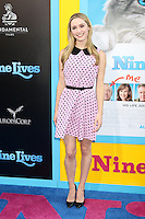 HOLLYWOOD, CA - AUGUST 01: Greer Grammer at the film premiere for 'Nine Lives' at the TCL Chinese Theatre on August 1, 2016 in Hollywood, California. Credit: David Edwards/MediaPunch