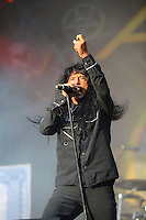 DERBYSHIRE, ENGLAND - AUGUST 14: Joey Belladonna of 'Anthrax' performing at Bloodstock Open Air Festival, Catton Park on August 14, 2016 in Derbyshire, England.<br /> CAP/MAR<br /> &copy;MAR/Capital Pictures /MediaPunch ***NORTH AND SOUTH AMERICAS ONLY***