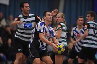 KORFBAL: HEERENVEEN: 15-11-2014, KV Heerenveen 1 - KVZ 1, ©foto Martin de Jong