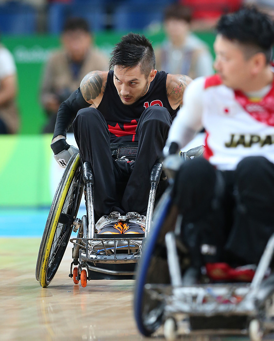 Rio de Janeiro-18/9/2016- Canadian men wheelchair rugby play Japan at Carioca Arena bronze medal final at the Olympic Aquatics Centre during the 2016 Paralympic Games in Rio. Photo Scott Grant/Canadian Paralympic Committee