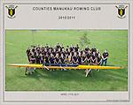 110417 Counties Manukau Rowing Club team photos