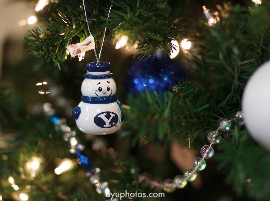 1312-14 082<br /> <br /> Christmas Stock Photos 2013<br /> BYU Ornaments<br /> Hinckley Center HC<br /> <br /> Tree, holiday, festive, seasonal, ornaments, lights, decorations, snowman<br /> <br /> December 16, 2013<br /> <br /> Photo by Meagan Larsen/BYU<br /> <br /> Copyright BYU Photo 2013<br /> All Rights Reserved<br /> photo@byu.edu  <br /> (801)422-7322