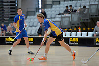 Action from the Floorball New Zealand Secondary Schools Floorball Championship at ASB Sports Centre, Kilbirnie, Wellington, New Zealand on Sunday 20 September 2014.<br /> Photo by Masanori Udagawa.<br /> www.photowellington.photoshelter.com