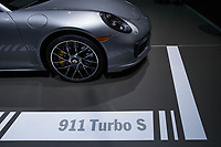 NEW YORK, NY - APRIL 12: Porsche 911 Turbo S is displayed at the New York International Auto Show, at the Jacob K. Javits Convention Center on April 12, 2017 in Manhattan, New York. Photo by VIEWpress/Eduardo MunozAlvarez