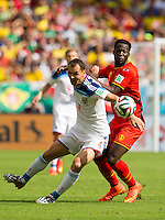 Sergey Ignashevich of Russia and Romelu Lukaku of Belgium