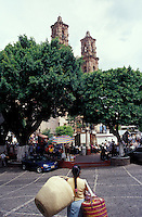 The Plaza Borda in the Spanish colonial town of Taxco, Guerrero, Mexico