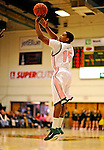 13 February 2011: University of Vermont Catamount guard Simeon Marsalis, a Sophomore from New Rochelle, NY, in action against the Binghamton University Bearcats at Patrick Gymnasium in Burlington, Vermont. The Catamounts came from behind to defeat the Bearcats 60-51 in their America East matchup. The Cats took part in the National Pink Zone Breast Cancer Awareness Program by wearing special white jerseys with pink trim. The jerseys were auctioned off following the game with proceeds going to the Vermont Cancer Center. Mandatory Credit: Ed Wolfstein Photo