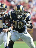 Landover, MD - October 12, 2008 -- St. Louis Rams running back Steven Jackson (39) in game action against the Washington Redskins at FedEx Field in Landover, Maryland on Sunday, October 12, 2008.  The Rams won the game 19 - 17..Credit: Ron Sachs / CNP