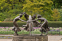 New York City, Central Park, Conservatory Garden, New YorK, Untermeyer Fountain, Dancing Girls, By Walter Schott