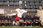 14 November 2008: Maryland's A.J. Delagarza (20). The University of Maryland defeated Boston College 1-0 at WakeMed Stadium at WakeMed Soccer Park in Cary, NC in a men's ACC tournament semifinal game.