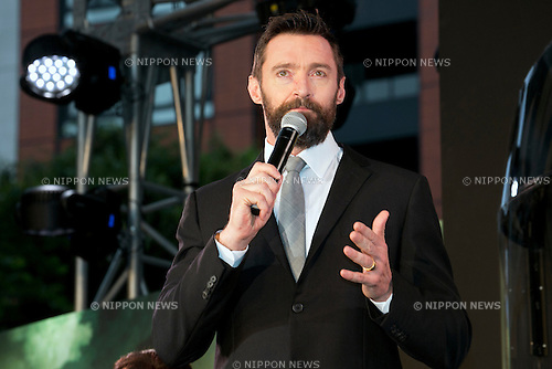 "Tokyo, Japan - The actor Hugh Jackman attends the ""X Men Days of Furute Past"" Japan Premier at Roppongi Hills Arena on May 27, 2014. The movie will be released on May 30th. (Photo by Rodrigo Reyes Marin/AFLO)"