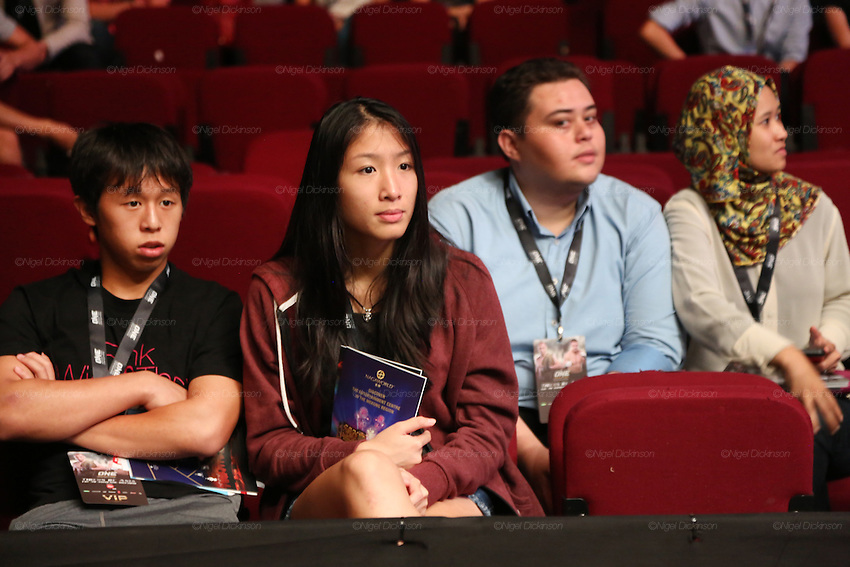 Spectators watching the fight<br />