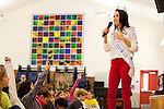Miss California visits Almond Elementary School